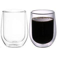2 szklanki termiczne z podwójną ścianką 300 ml