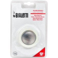 3 Uszczelki BIALETTI + Sitko do kawiarki aluminiowej 3/4tz