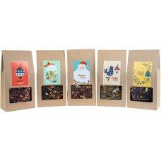Zestaw 5 Herbat Świątecznych w opakowaniu z okienkiem