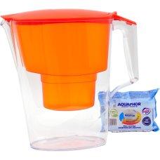 Dzbanek Aquaphor Time 2.5 l + wkł. B25,  pomarańczowy