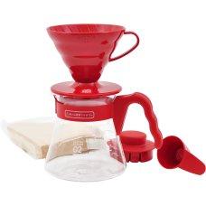 Hario Pour Over - czerwony zestaw