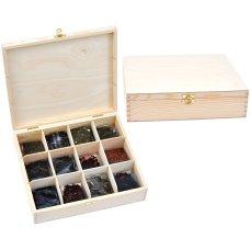 Zestaw 12 herbat w drewnianym pudełku