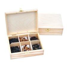 Zestaw 6 herbat w drewnianym pudełku